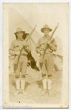 WW1. Carte Photo . DOUGHBOYS. SAMMIES. AMERICAN MILITARY  MILITAIRES AMéRICAINS