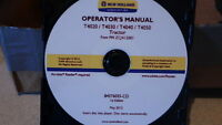NEW HOLLAND T4020-4050  TRACTOR OPERATORS MANUAL ON CD CD35