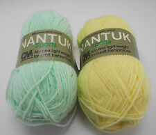 Columbia Minerva Nantuk Sports 3-Ply Yarn - 1 Skein each Baby Yellow, Baby Green
