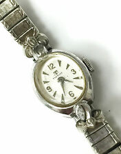 Tissot Oval Ladies Watch Wind up Mechanical 10k GF Bezel Swiss 17 Jewls 5770575