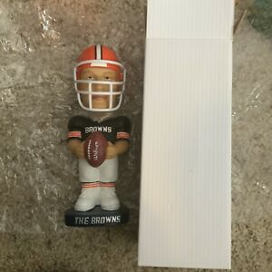 """New Vtg Cleveland Browns Retro Bobblehead Player NIB Hard To Find 8"""" tall"""