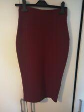 Women's Size 8 Skirt Purple/plum Boohoo Pencil Skirt Knee Length