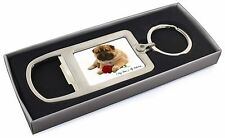 Personalised (Any Name) Chrome Metal Bottle Opener Keyring in Box G, VAD-SH2RMBO
