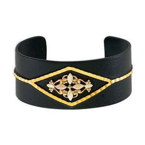 Landstroms G LBR3470 Black Hills Gold Black Cuff Bracelet