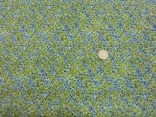 Quilting Fabric Green Blue Small Swirl Moss like Pattern 100% Cotton Fat Quarter