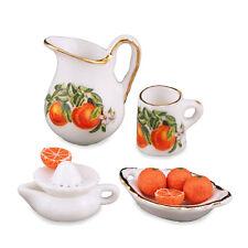 REUTTER PORZELLAN JUS D'Orange Fresh / Orange Juicing Lot Maison de poupée 1:12