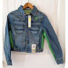 Pepe Jeans London Woman's Blue Denim Jacket Size Medium Vintage Logo NWTs