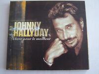 CD SINGLE DE JOHNNY HALLYDAY , VIVRE POUR LE MEILLEUR , DIGIPACK COMME NEUF .
