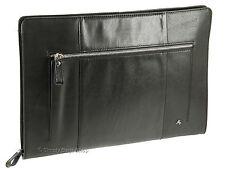Visconti Buffalo Leather Zip Around Folio A4 Document Holder Folder Case - Ml26 Black