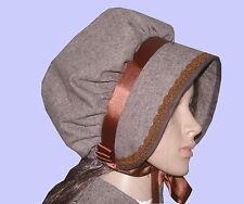 Ladies Victorian American Civil War Donegal Tweed BONNET costume fancy dress