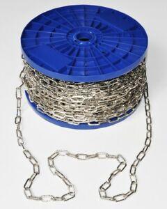 Pewag Zierkette Lampenkette 60m 2mm Stahl Nickelfarben Vierkant Metall Kette