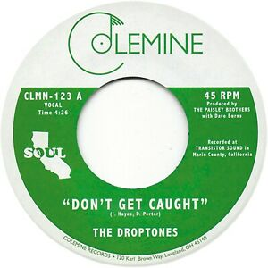 "The Droptones - Don't Get Caught (Irish Green)  (7"") CLMN123C1"