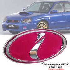 NEW pink i Front Grill JDM Emblem Badge subi impreza WRX STI Impreza WRX Grille