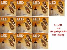 Lot of 20 Feit LED Edison Vintage Style Light Bulb 40W - New & Free Shipping