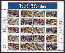 STATI UNITI 1997 Minifoglio Allenatori di Football Americano MNH**