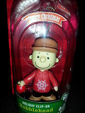 Peanut Charlie Brown  Bobblehead Holiday Christmas Ornament Clip on New