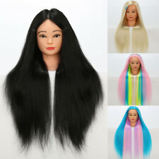 Long Beauty Salon Hairdressing Mannequin Practice Training Head Synthetic Hair