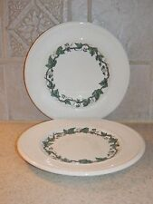 WEDGWOOD CHINA STRATFORD PATTERN EDME SHAPE PAIR BREAD PLATES 6 3/8""