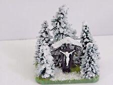 Jordan 19 A Kleindiorama Tannenmotiv mit Marterl Im Schnee Spur H0