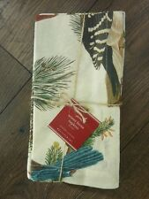 HARD TO FIND POTTERY BARN FAUNA BIRDS HOLIDAY ONE SET/4 LINEN BLEND NAPKINS~NWT