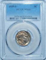 1935 S PCGS MS66 Buffalo Nickel