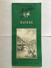 GUIDE VERT MICHELIN SUISSE 1961 GUIDE TOURISME PNEU