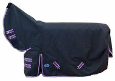 6'9 Liberty 1200d Ripstop Turnout Horse Rug Combo 100g Navy/Purple - NEW