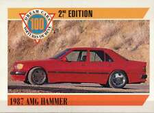 1987 AMG Hammer, Mercedes Benz Dream Cars Trading Card Automobile - Not Postcard