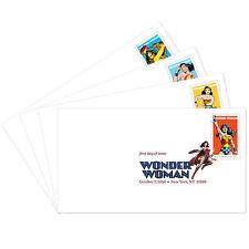 USPS New Wonder Woman Digital Color Postmark set of 4