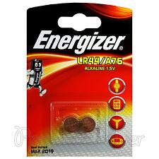 2 x Energizer Alkaline LR44 A76 batteries 1.5V AG13 303 357 L1154 SR44 EXP:2019