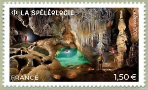 France 2021 speleologie POTHOLING cave TRUBAC stalagmitr schlaglocher 1v mnh