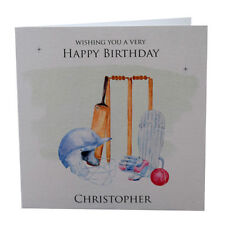Birthday Card Men, Son, Brother, Husband, Uncle, Friend, Cricket, Personalised