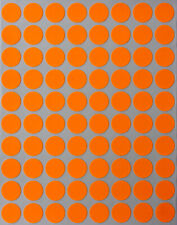 Neon Orange Dot Stickers In Various Sizes 8mm 38mm Color Label In 15 Sheets