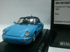 WOW EXTREMELY RARE Porsche 964 911 Targa 3.6 1991 R Blue 1:43 Minichamps-Spark