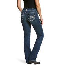 Ariat ® Damas r.e.a.l estiramiento mediados de subida Ivy pierna recta Jeans 10024300