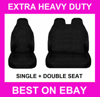 🔥 FIAT BLACK EXTRA HEAVY DUTY VAN SEAT COVERS PROTECTORS SINGLE + DOUBLE 2+1 🔥