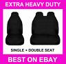 🔥 MITSUBISHI CANTER BLACK EXTRA HEAVY DUTY VAN SEAT COVERS PROTECTORS 1+2 🔥