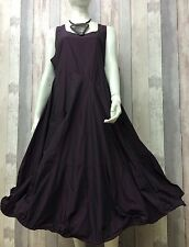 KAMUFLAGE- DESIGNER GERMAN AMETHYST TAFFETA WIRED HEM DRESS- STEAMPUNK-SIZE 1
