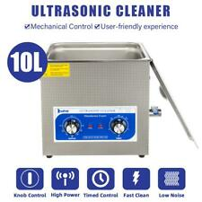 Dental 240w Power Stainless Digital Ultrasonic Cleaner 10l Tank Capacity New