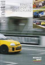 RENAULT MOTORSPORT Megane Sport Spider Clio V6 Prospekt Brochure 1998 /33