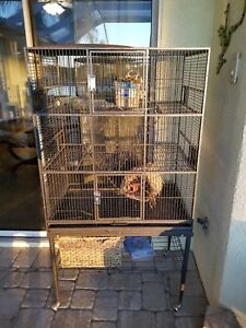 Exotic Nutrition Co. Three level. All metal. Best Large Small Animal Cage for Ch