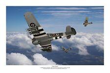 "WWII WW2 RAF RAAF RCAF Hawker Typhoon Squadron Aviation Art Photo Print - 8""X12"""