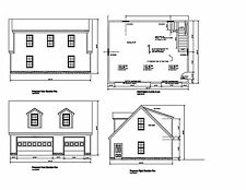36'x28' -Gable Roof Dormers Plans 28'X36' Print Blueprint Plan #17-2836Gbldorm-1