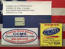 CCMS Yamaha Racing Outboard Reed Reeds 30-50hp 3 Cylinder PN332R