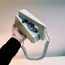 White Corded Telephone Retro Vintage