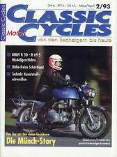 Classic Motor Cycles D 2/93 1993 BMW R 50 69 S Ducati 750 SS Münch Mammut PGO V2