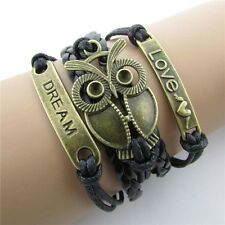 Cute Friendship Bracelet Big Owl Fashion Leather Bracelet [24].