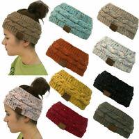 Ladies Headscarf KNITTED Winter Ear Band Hat Headband Warm Headwrap Beanie