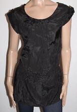 TEMT Designer Black Draw String Waist Tunic Top Size BNWT #SO103