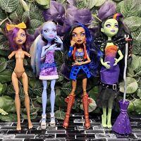 LOT 4 Monster High Abbey Bominable CASTA FIERCE Robecca Steam Clawdia Wolf OOAK